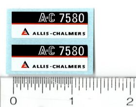 Decal 1/16 AC 7580 Model Numbers (Maroon Belly) (Pair)