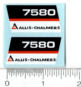 Decal 1/16 AC 7580 Model Numbers (Black Belly) (Pair)