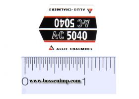 Decal 1/16 Allis Chalmers 5040 Model Numbers (pair)