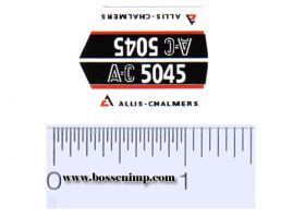 Decal 1/16 Allis Chalmers 5045 Model Numbers (pair)