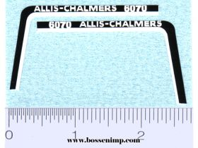 Decal 1/16 Allis Chalmers 6070 Hood Stripe