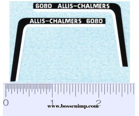 Decal 1/16 Allis Chalmers 6080 Hood Stripe