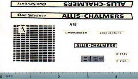 Decal 1/16 Allis Chalmers 170 Set