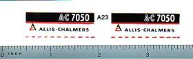 Decal 1/16 Allis Chalmers 7050 Model Numbers (maroon belly)