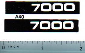 Decal 1/16 Allis Chalmers 7000 Model Numbers (white on black)