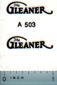 Decal 1/16 Allis Chalmers Gleaner (black print)