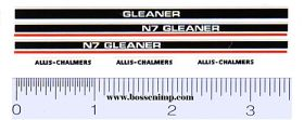 Decal 1/64 Allis Chalmers Gleaner N7