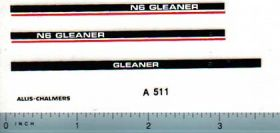 Decal 1/64 Allis Chalmers Gleaner N6 Combine Set