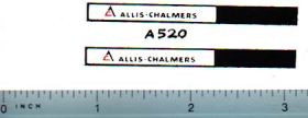 Decal 1/16 Allis Chalmers Logo for Implements