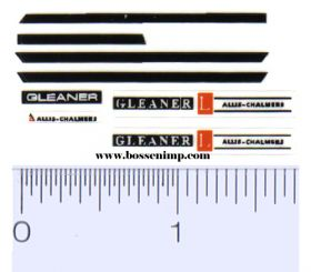 Decal 1/64 Allis Chalmers Gleaner L Set