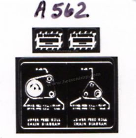 Decal 1/16 Allis Chalmers Forage Harvester 50  Chain Diagram