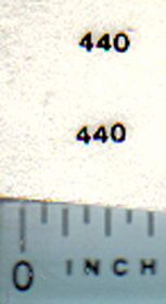 Decal 1/64 Allis Chalmers 440 Model Numbers (Black)