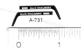 Decal 1/64 Allis Chalmers 6060 Set