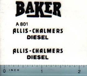 Decal 1/16 Allis Chalmers Crawler Diesel (black, Baker)