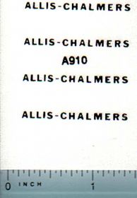 Decal Allis Chalmers Logo (black on clear)