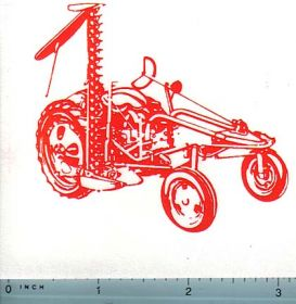Decal Allis Chalmers G Tractor w/mower (orange on clear)