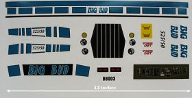 Decal 1/16 Big Bud 525/50 Blue (Fast)