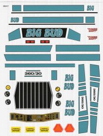 Decal 1/16 Big Bud 360/30 Blue