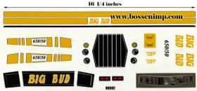 Decal 1/12 Big Bud 650/50 Yellow Set Complete