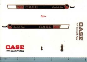 Decal 1/16 Case 1030 Comfort King Demostrator Set (gold)
