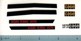 Decal 1/16 Case 1070 Agri King Set (tan tractors)