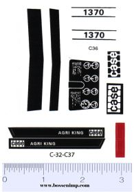 Decal 1/16 Case 1370 Agri King Dress Up (white tractors)