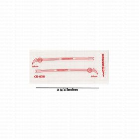 Decal 1/16 Cockshutt 20 Deluxe side panels Red