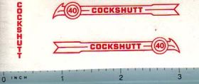 Decal 1/16 Cockshutt 40 (red)