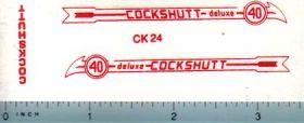Decal 1/16 Cockshutt Deluxe 40 (red)