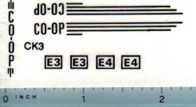Decal 1/16 CO-OP E3 or E4