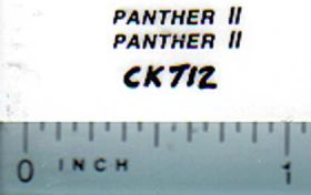 Decal 1/64 Panther II (black)