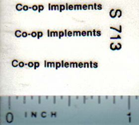 Decal 1/64 CO-OP Implements Logo (black) 1/64 scale