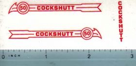 Decal 1/16 Cockshutt 50 (red)