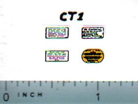 Decal 1/16 Caterpillar Warning Label Set
