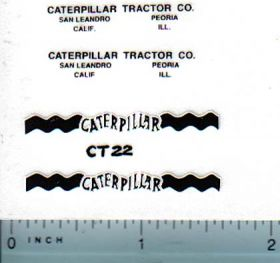 Decal Caterpillar Logo (black, white)