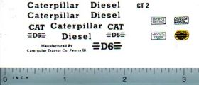 Decal 1/16 Caterpillar D6 Set (w/DCT1 Warning Lable Set)