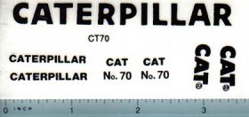 Decal 1/16 Caterpillar No. 70 Set