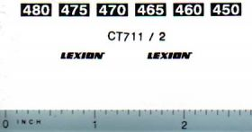 Decal 1/64 Caterpillar/Claas Lexion Model Number Decals