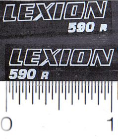 Decal 1/64 Caterpillar/Claas Lexion 590R Model Numbers (White)