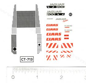 Decal 1/64 Claas Jaguar 900 Set