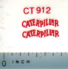 Decal Caterpillar Logo (red)