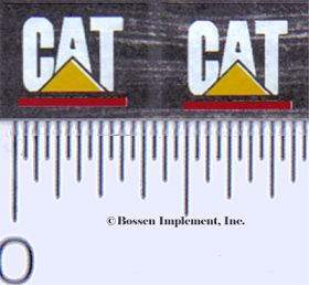 Decal CAT Logo (white, yellow triangle with red)