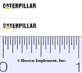 Decal Caterpillar Logo (black, yellow triangle)
