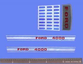 Decal 1/12 Ford 4000 Set with Grille
