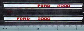 Decal 1/12 Ford 2000 Hood Stripe