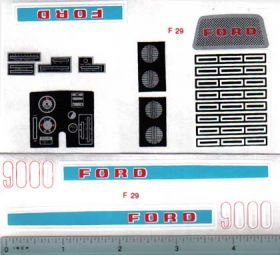 Decal 1/12 Ford 9000 Set