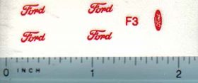 Decal 1/16 Ford 8N Red Logo