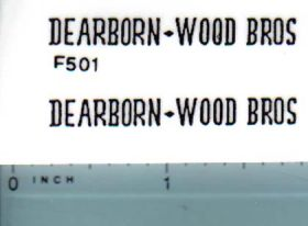Decal 1/16 Dearborn-Wood Bros (black)