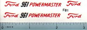 Decal 1/12 Ford 961 Powermaster Pair