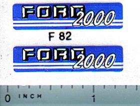 Decal 1/12 Ford 2000 (blue/gray version)